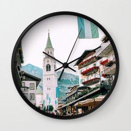 Streets of Cortina d'Ampezzo Wall Clock