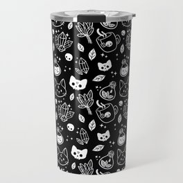 Herb Witch // Black & White Travel Mug