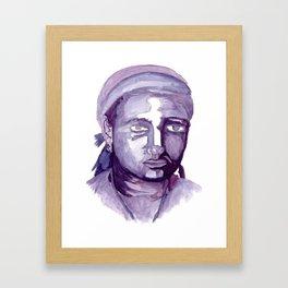 Self-Portrait of a College Freshman Framed Art Print
