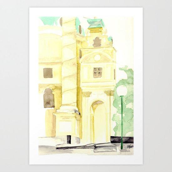 Karlskirche, Vienna, Austria Art Print