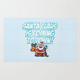 Santa Claus is Coming to Town! Rug