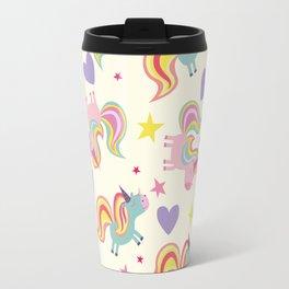 Rainbow Unicorn Pattern Travel Mug