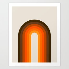 Golden Rainbow Art Print