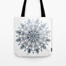Dancing Mandala Grey Tote Bag