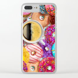 Donuts & Coffee Clear iPhone Case