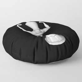 The White King Floor Pillow