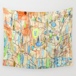 Paul Klee Sparse Foliage Wall Tapestry