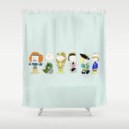 Mutant Superhero Friends Shower Curtain