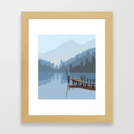 Looking for peace Framed Art Print