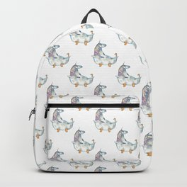 Unicorn taking bath painting watercolour Backpack