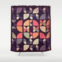 olivia joy Shower Curtains featuring Joy by VessDSign