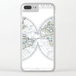 World map wall art 1651 dorm decor mappemonde Clear iPhone Case