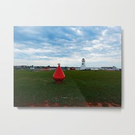 Marker Buoy and Lighthouse Metal Print