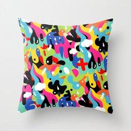 Color blobs Throw Pillow
