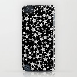 Hand Printed Black and White Stars iPhone Case