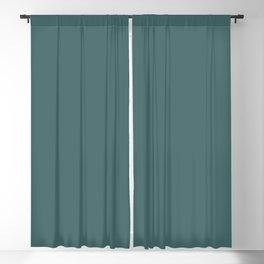 Dark Teal Turquoise Solid Color Blackout Curtain