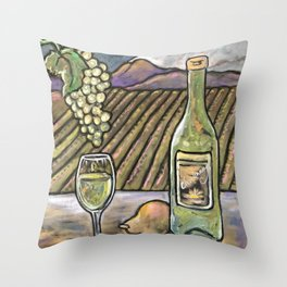 Chardonnay Daydreams Throw Pillow