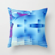 Barnsley Blue Throw Pillow