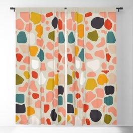 terrazzo mosaic shapes modern Blackout Curtain