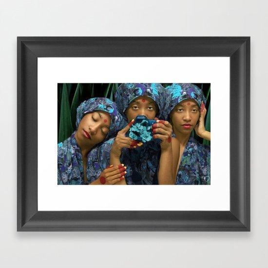 Hear No Evil, See No Evil, Shoot No Evil Framed Art Print