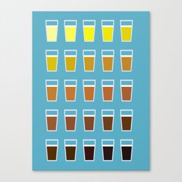 The Colors of Beer Canvas Print
