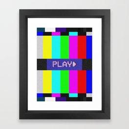 P L A Y *BEEP* Framed Art Print