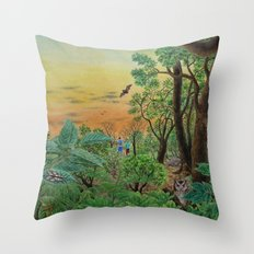 A Day of Forest (9). (the forest at night) Throw Pillow