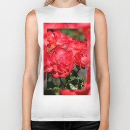 Flowerheads of red roses Biker Tank
