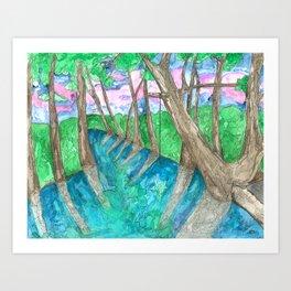 Blue Hole Art Print