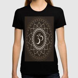 Espresso Brown Om Mandala T-shirt