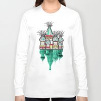 architecture Long Sleeve T-shirts featuring Pineapple architecture  by AmDuf