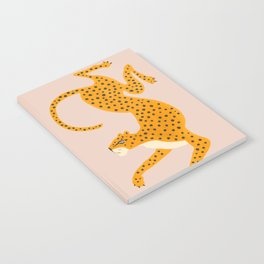 Leopard Race - pink Notebook