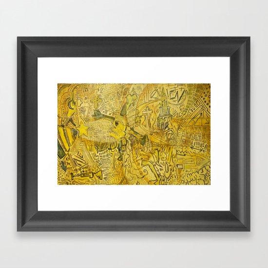 Serpent City Framed Art Print