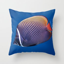 Redtail butterflyfish Throw Pillow
