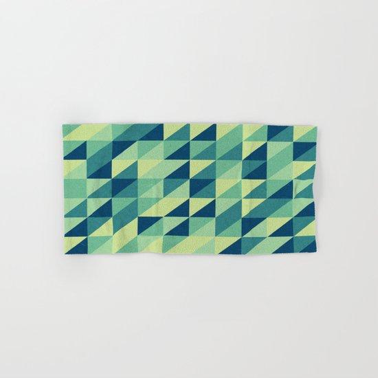 turquoise pattern Hand & Bath Towel