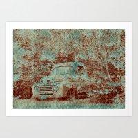 1950 Ford F100- Textured Rust Art Print