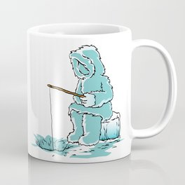 Eskimo fishing for fish Coffee Mug