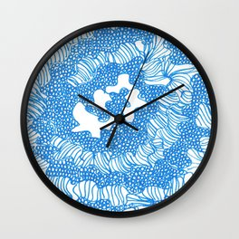 March's Blue 6   | Artline Drawing Pens Sketch Wall Clock