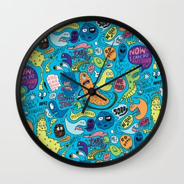 Gettin' Loose Pattern Wall Clock