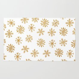 Golden Snowflakes Rug