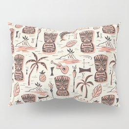 Tropical Tiki - Cream Pink Pillow Sham
