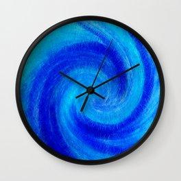 Spiral Blue Wave Wall Clock