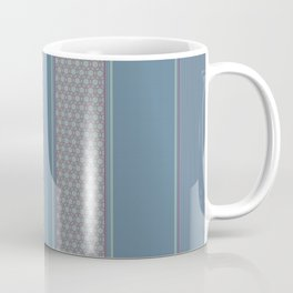 Decorative Vertical Multi Pattern Design Coffee Mug