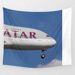 Qatar Airlines Airbus A380 Wall Tapestry