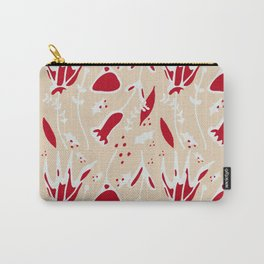 winter floral ivory Carry-All Pouch