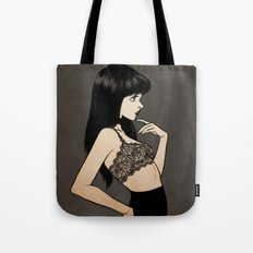 Black hair Tote Bag