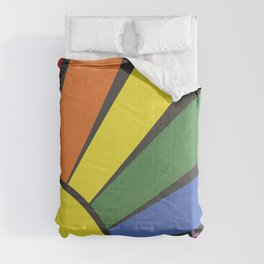 Rainbow sun rays Comforters
