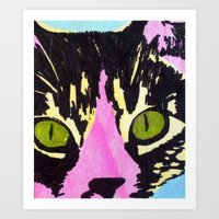 Pop Art Cat No. 1 Art Print