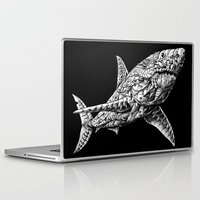 bioworkz Laptop & iPad Skins featuring Great White by BIOWORKZ
