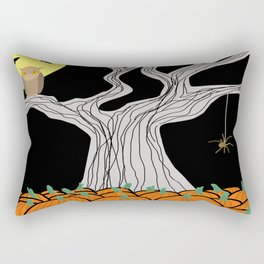 On A Very  Scary #Halloween Night Rectangular Pillow